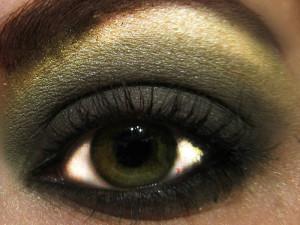 макияж на зеленые глаза