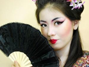 Гейша макияж