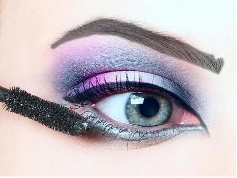 Горизонтальный макияж