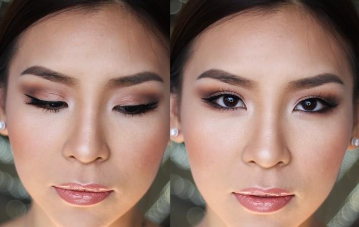 Азиатский макияж для карих глаз