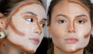 Макияж для структурирования лица