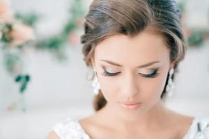 Нежный свадебный макияж