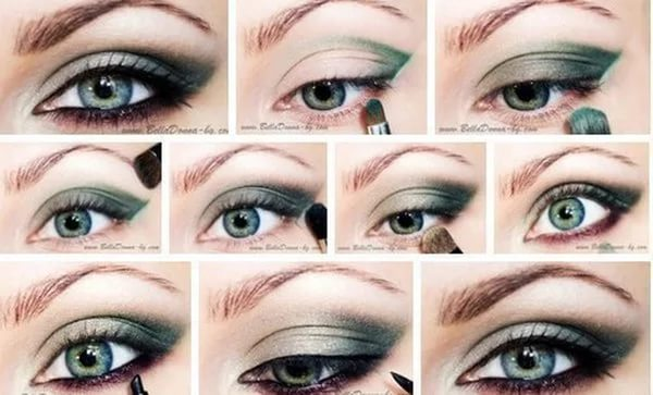 Как сделать макияж с синими тенями 930