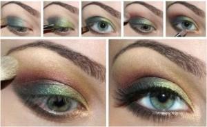 Макияж в зеленых тонах для зеленых глаз