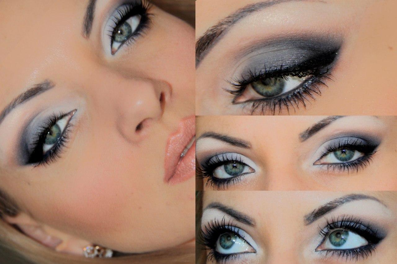 Макияж глаз для голубоглазых брюнеток